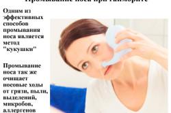 """Принцип промывания носа методом """"кукушка"""""""